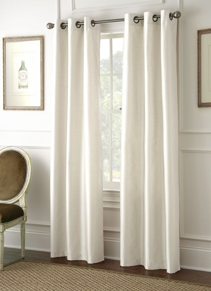 Faux Dupioni Black Out Curtains (Ivory)