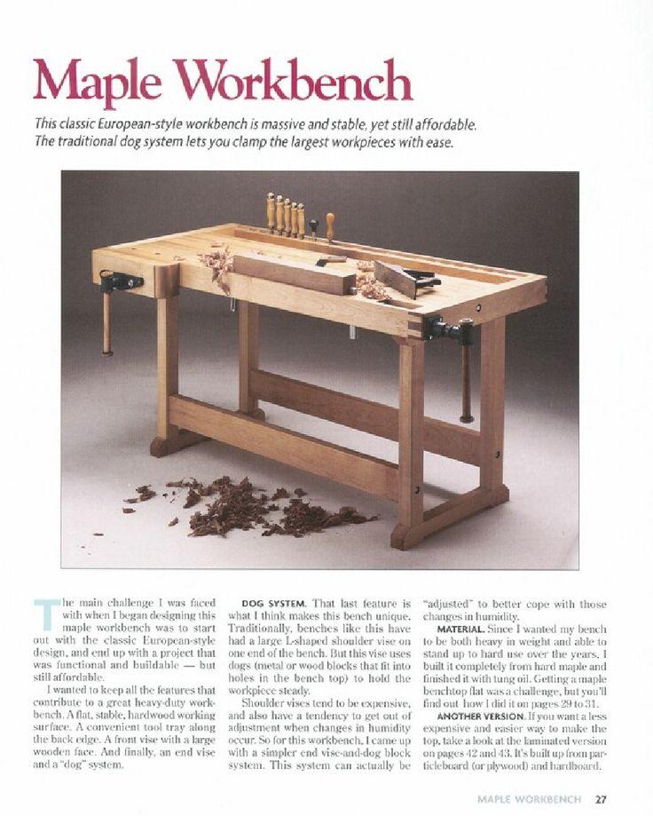 Planos de Muebles Para Herramientas Del Taller  Wood  Work Bench