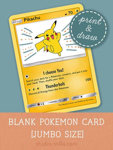 Pokemon Card Template Make Your Own Pokemon Card Printable Pdf Pokemon