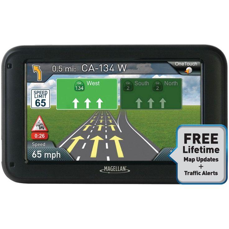 "Magellan Roadmate 5375t-lmb 5"" Gps Device With Bluetooth & Free Lifetime Maps & Traffic Updates"