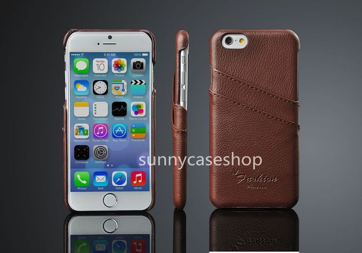 """Luxury Genuine leather cover back case skin FOR APPLE IPHONE 6 4.7"""" card holder"""