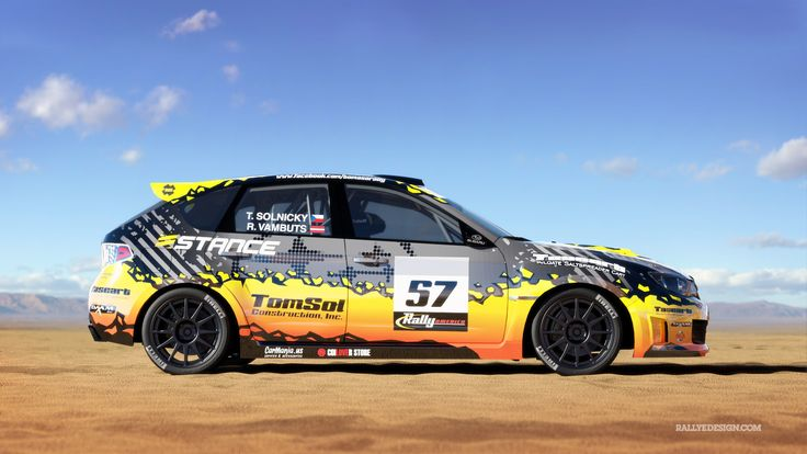 Tomaso Rally Team - T. Solnický - R. Vambuts (Subaru Impreza) - design for Rally America 2015.
