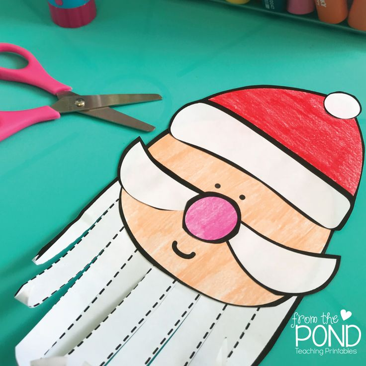 Santa Craft One Page Craft - perfect for kids and kindergarten