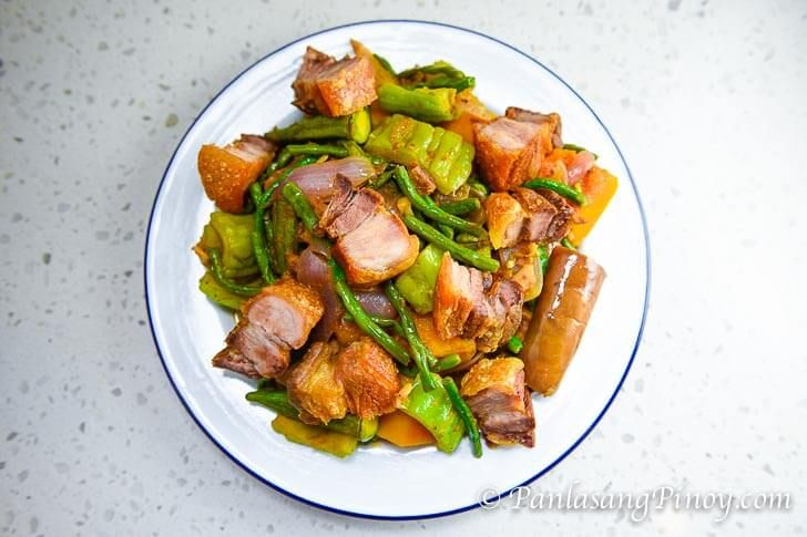 How to Cook Pinakbet with Lechon Kawali