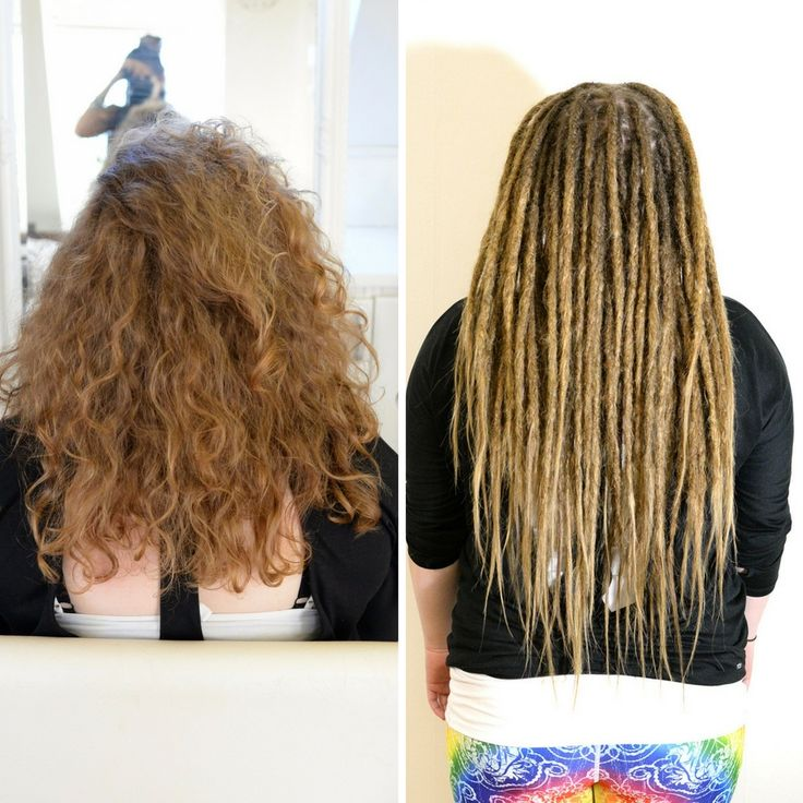Check this out, this is my client Sofia. She came down from Norrland to get her dreadlocks started. Here is a photo of her hair before and after so you can get a inspiration on what can be done with your hair =)