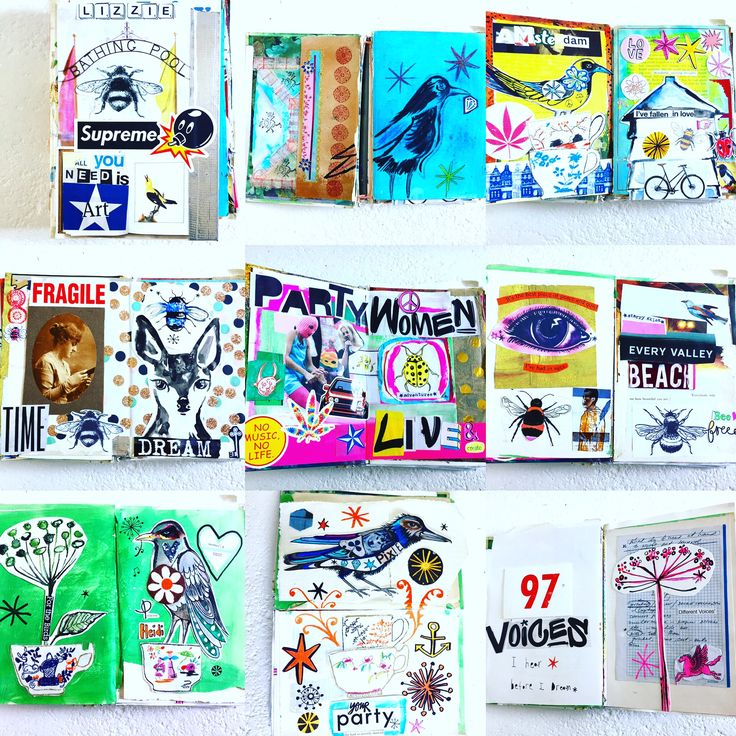 Art journal pages by Lizzie Reakes