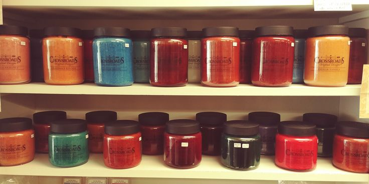 Crossroad candles, yummy scents, no wax waste