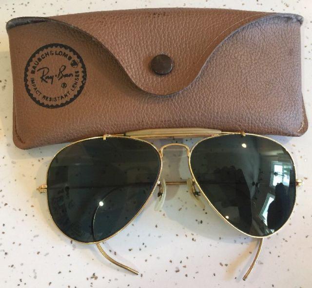 Vintage Ray Ban  Bausch & Lomb USA Framed Aviators Shooters 58/14 Sunglasses  | eBay