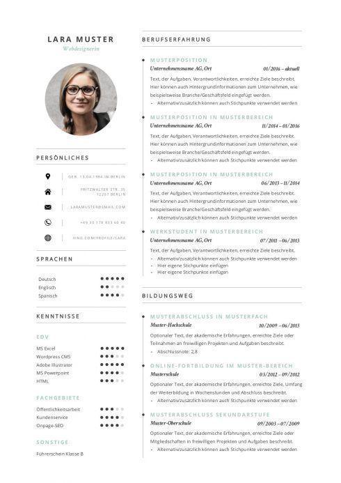 Lebenslauf Vorlage 8 1 Resume Design Template Resume