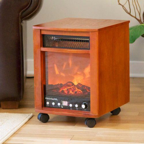 Portable Electric Fireplace with Wheels