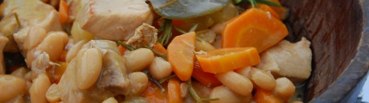 Sous Vide Pork Stew with White Beans and Rosemary