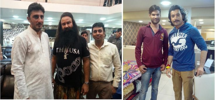 Before release of the film ‪#‎MSG‬ (‪#‎TheMessengerofGod‬), the star and the director Mr. Gurmeet Ram Rahim Singh visited our Mumbai store and brought home our design . Also TV series ‪#‎MaharanaPratap‬ famed star Mr. Sharad Malhotra visited our Mumbai store recently and chosen our design for him.