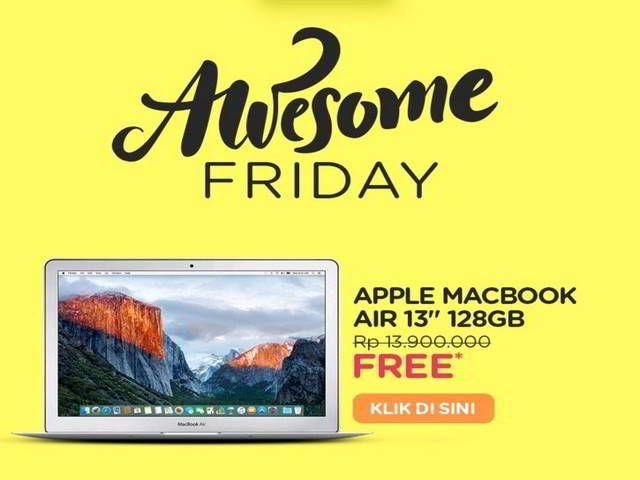 Promo Elevenia Awesome Friday Berhadiah Macbook Air 128GB - Hai sobat MisterKuis! Ada promo berhadiah macbook dari Elevenia. Bagi kamu yang belum ikutan