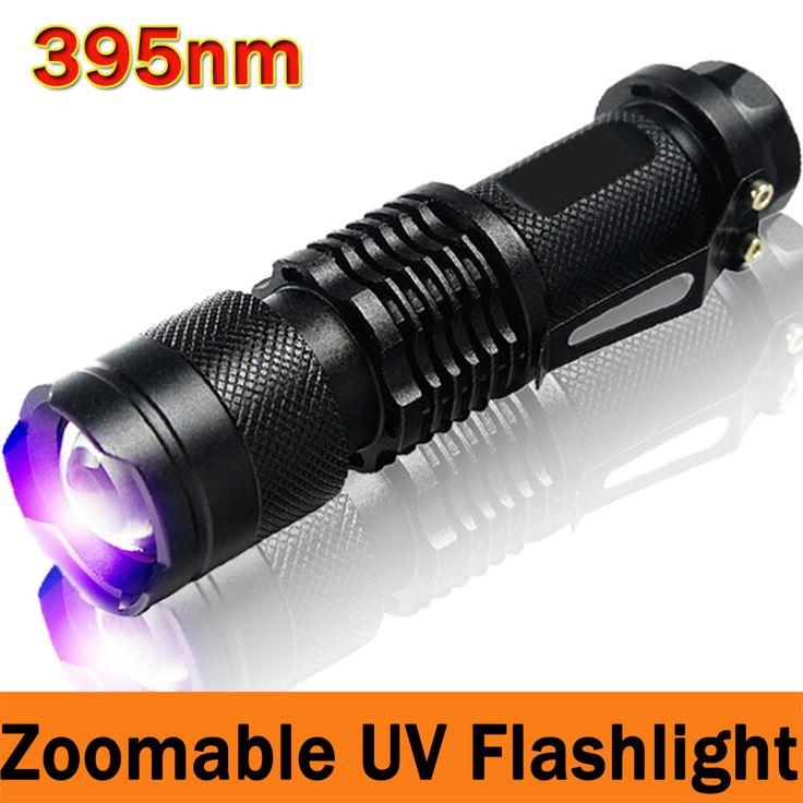 395nm UV Zaklamp Krachtige LED Zaklamp UV LightTactical Zaklamp Paars Violet Licht UV zaklamp Lamp gratis verzending