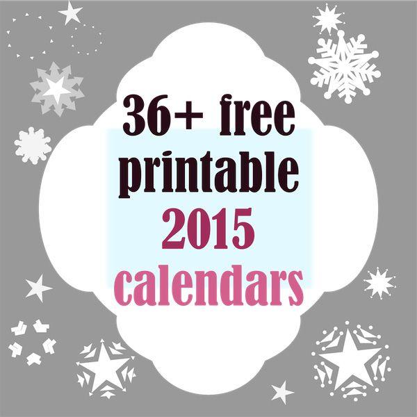 36+ free printable 2015 calendars - ausdruckbare Kalender 2015 - round-up | MeinLilaPark – DIY printables and downloads