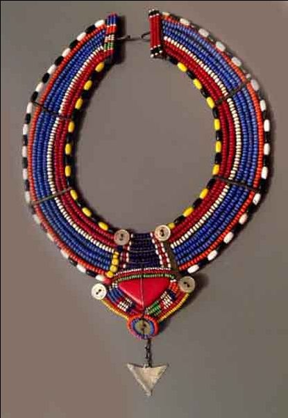 Masai collar with silver Kenya (Singkiang archives sold )- it would look fab with a simple white tee!