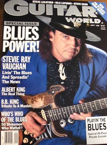 SRV - Guitar World cover - stevie-ray-vaughan Fan Art