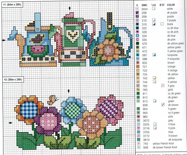 Garden cross stitch charts.