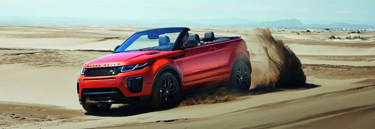 The new Range Rover Evoque is open to the elements as the world's first luxury compact SUV convertible