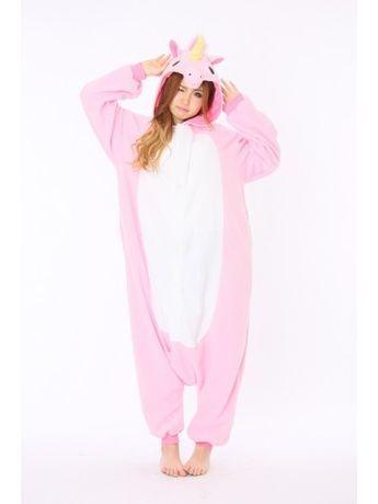 Pink Unicorn Animal Onesie-Kigurumi France Pyjama Party- Animal Onesies Pajamas for Adult & Kids-FREE SHIPPING on everything at Kigurumi.fr, with no minimum purchase required.