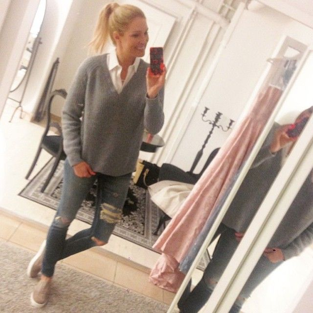 "TV host Jessica Almenäs sporting Blankens ""The Lee"". This is an Italian made, super soft, goat suede sneaker."