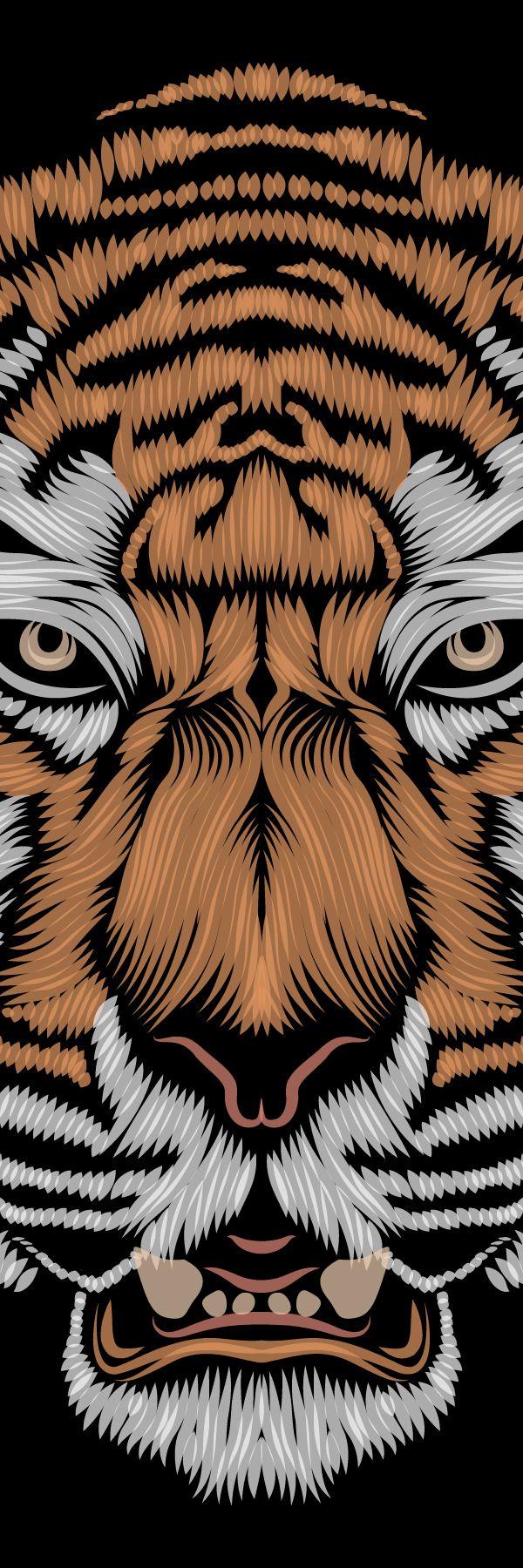 Le tigre by Patrick Seymour, via Behance