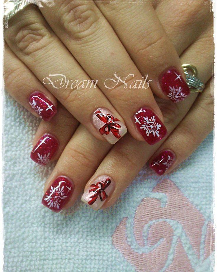 #winter nails #brilliant nails #snowflake #nailart #gelnails