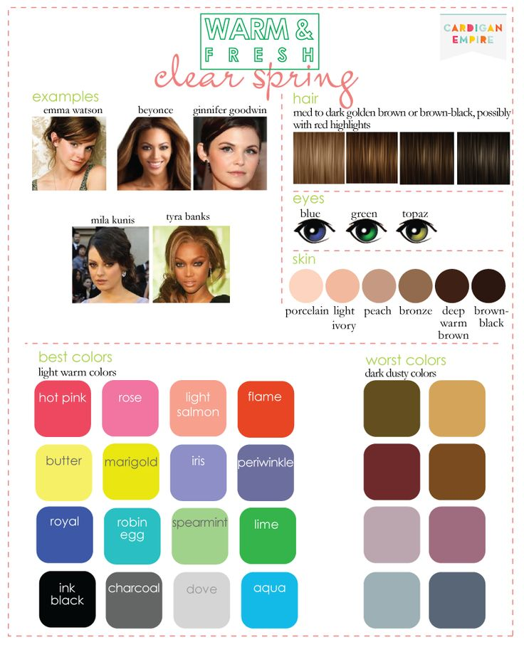 67 best color analysis clear/bright spring (pure) images ...