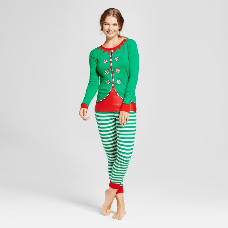 Women's Elf Pajama Set - Wondershop™ Green : Target