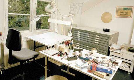 Judith Kerr's desk