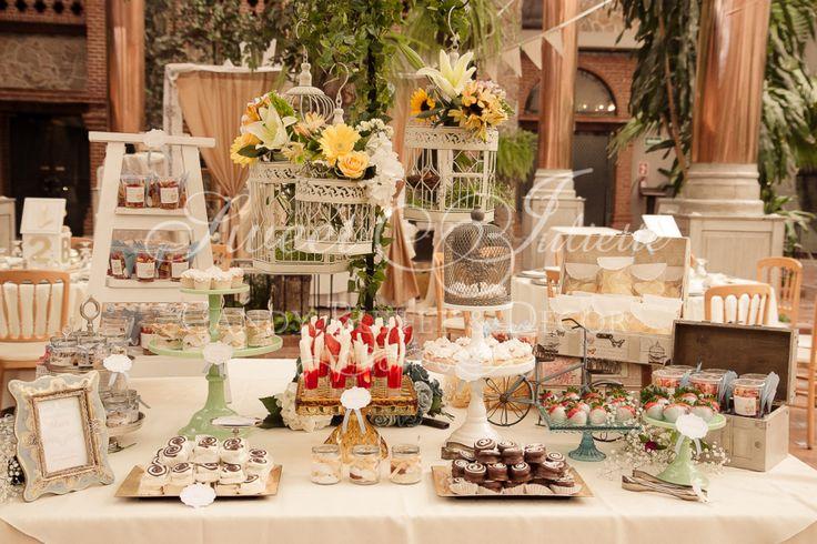mesas de dulces vintage - Buscar con Google