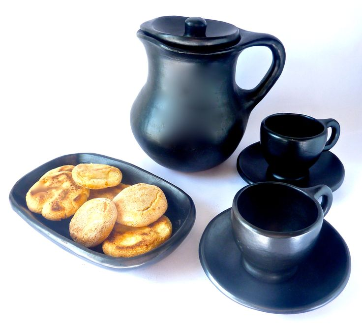 Our Chocolatera Pitcher with our 6 oz  coffee dinner set.