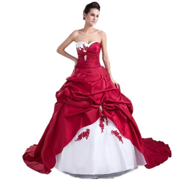 ... Robes de mariée Informations sur 2015 nouveau blanc rouge robe de