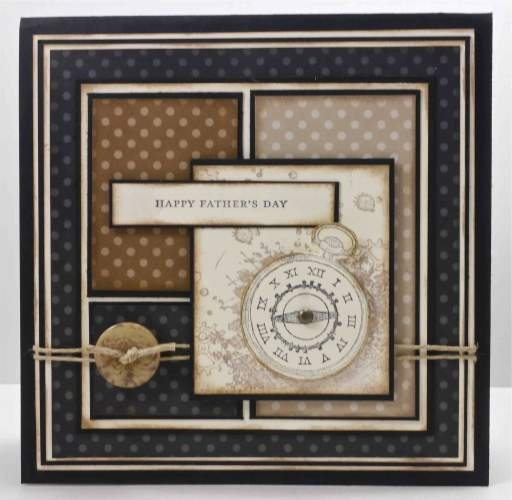 Masculine card. Could be used for any occasion. Use dark colors with a nice beige pop color inked around the edges.