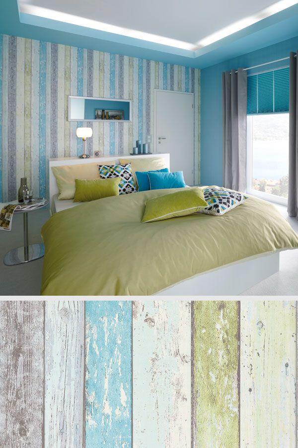 Bunte Bretterzaun Optik Für Deine #Wand: Noch Mehr Coole #Tapeten Gibtu0027s Bei