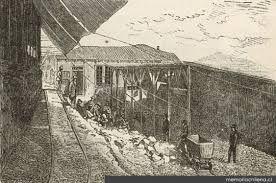 Cancha de acopio de la mina Dolores 1ª, Chañarcillo, 1872