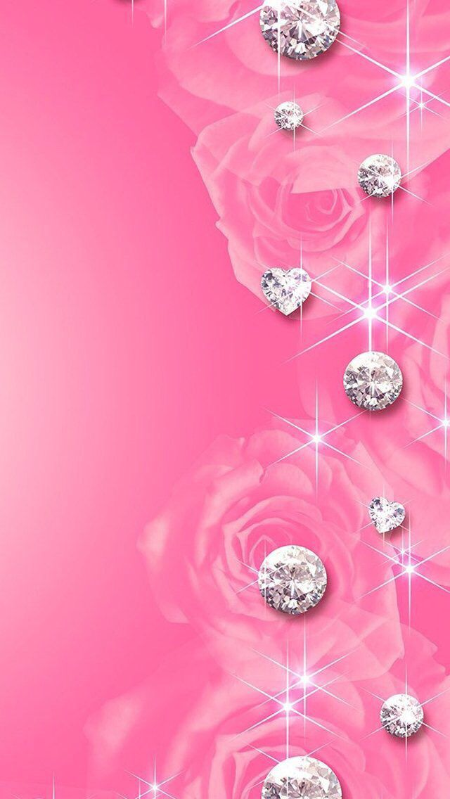 Diamonds ★ Download more cute Pink #iPhone + #Android #Wallpapers at…