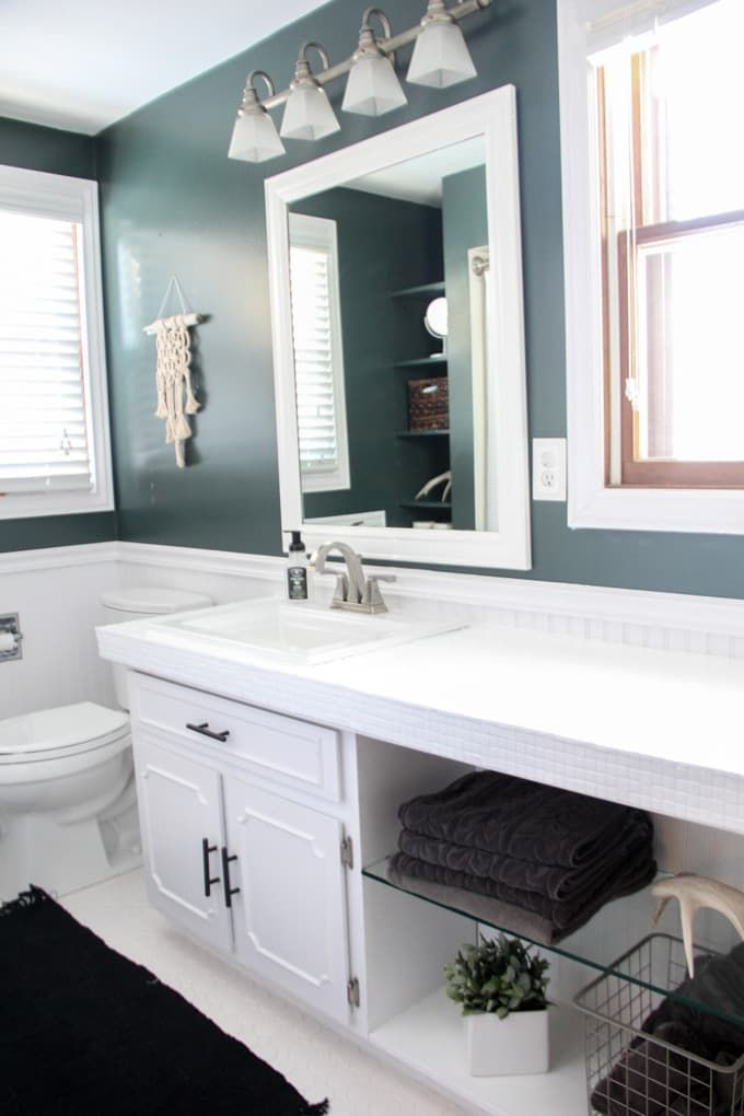 how to spray paint countertops in 2020  modern bathroom