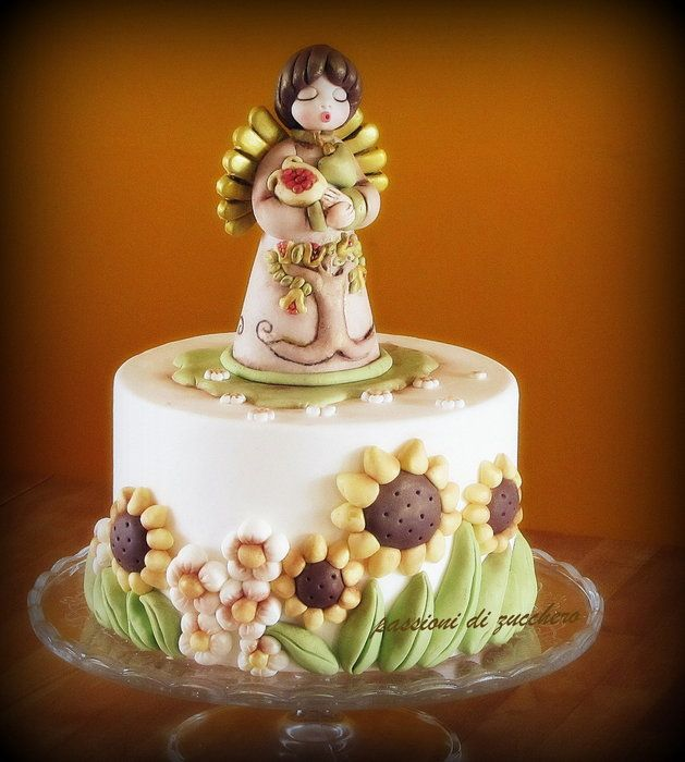 angel - by passionidizucchero @ CakesDecor.com - cake decorating website