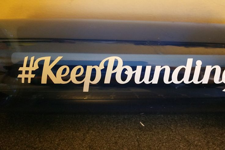 Keep Pounding Vinyl Decal, Yeti Decal, Car Decal, Laptop Decal, Super Bowl 50, Carolina Panthers, Panthers, #KeepPounding - Oracle 651 by CenturyParkDesigns on Etsy