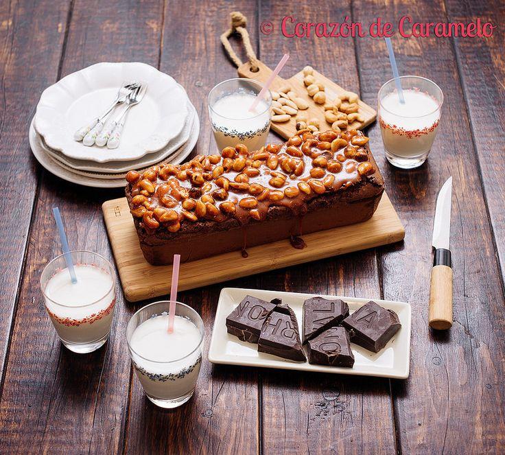 Brownie con Salsa de Caramelo y Frutos Secos