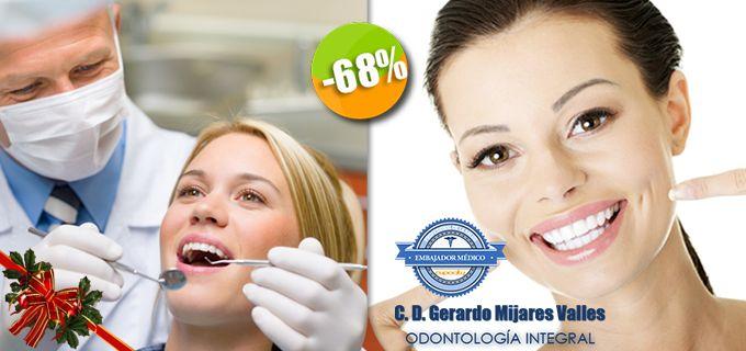 Dr. Gerardo Mijares Valles - $160 en lugar de $500 por 1 Diagnóstico con Cámara Intraoral + 1 Plan de Tratamiento + 1 Limpieza Dental con Ultrasonido y Pasta Profiláctica