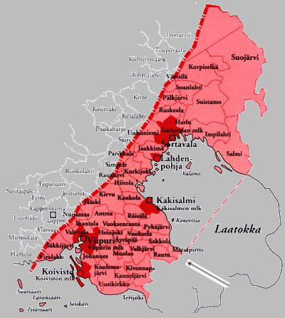 CARELIA, CEDED PART OF CARELIA! (KARJALA) Once part of Finland, today belonging to Russia. My family roots.