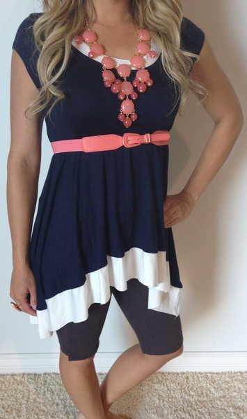 Pool Side Tunic is cute and feminine. Great for over swimsuits or with bermudas! Aqua or navy!! http://www.sexymodest.com/collections/featured/products/pool-side-tunic #sexymodestboutique #newarrivals #highlow #freeshipping