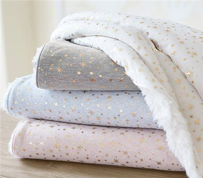 Gold Star Sherpa Baby Blanket | Pottery Barn Kids