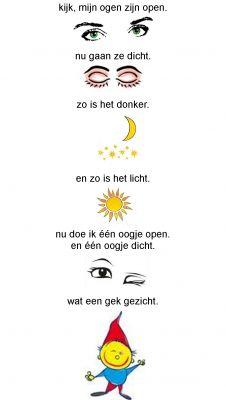versje ogen open/dicht