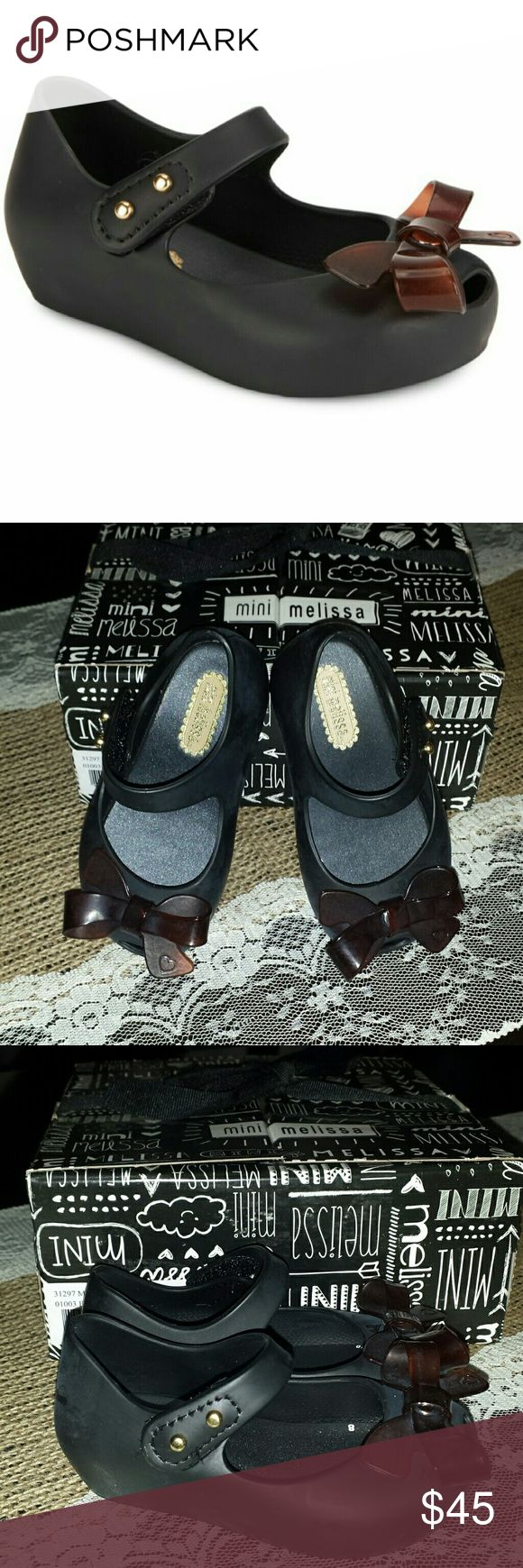 TODAY ONLY!!!  Mini Melissa Mary Janes Price Firm.  Adorable bow mary janes.  Brand new in box. Shoes