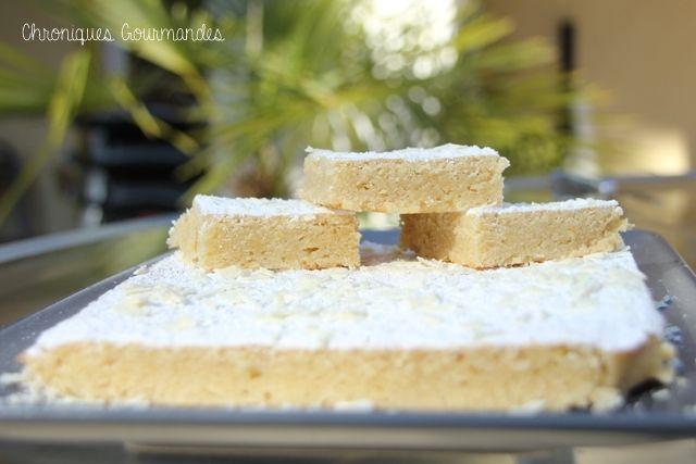 Chroniques Gourmandes Brownie au chocolat blanc et citron