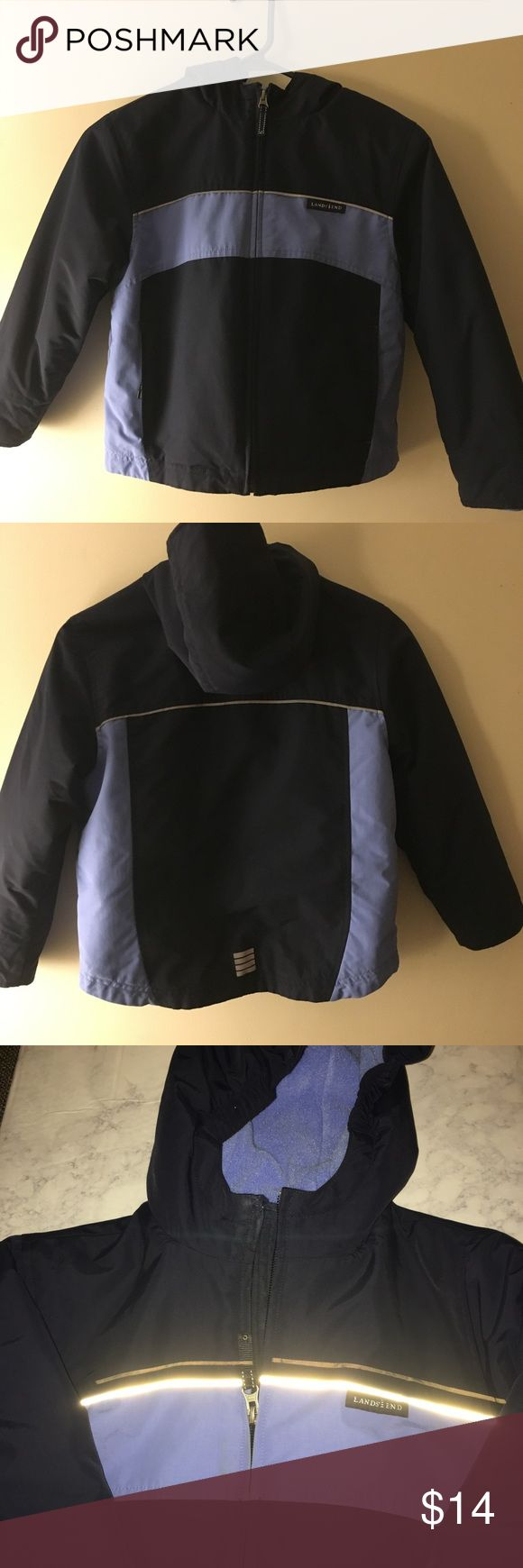 Boys winter coat size 6x-7 Lands End boys winter coat. Size 6x-7. Good condition. No holes or rips. The color is navy and a lighter blue. Nice coat. lands end Jackets & Coats