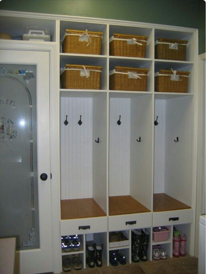 16 best mudroom lockers images on pinterest for Garage mudroom ideas
